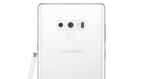 Galaxy Note 9 in weiß Renderfoto