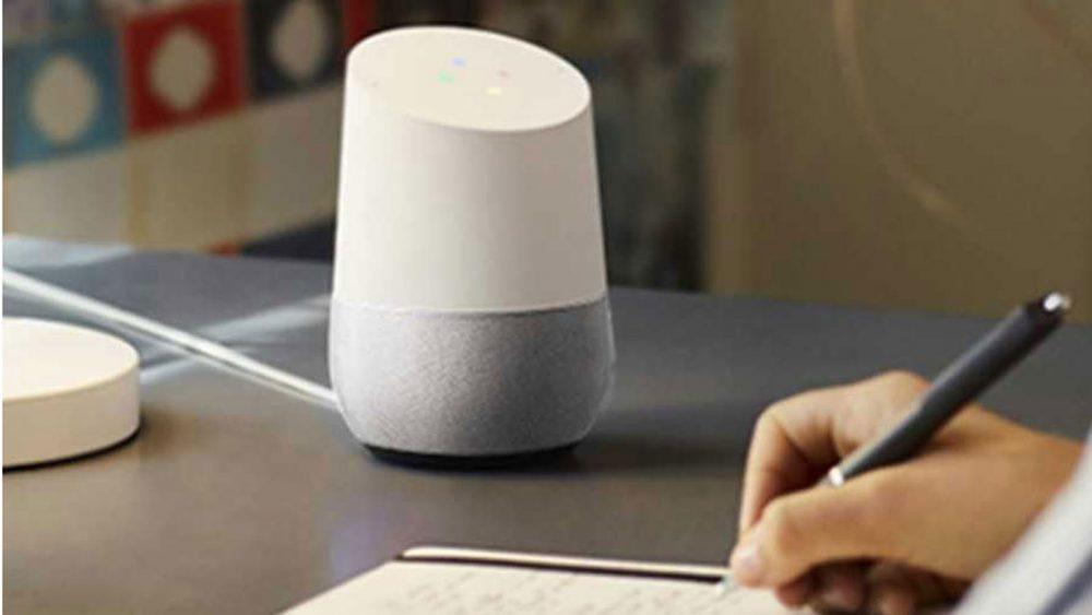 Der Google-Assistent-Lautsprecher Google Home