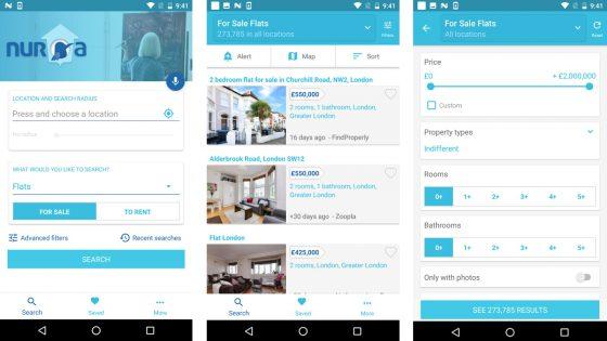 Immobilien-App Nuroa Screenshots