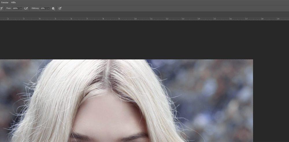 Pinselgröße in Photoshop anpassen, um Augen korrekt zu färben