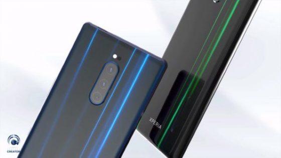 Renderbilder Sony Xperia XZ4