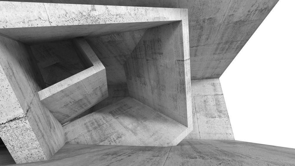Abstrakte Fotografie von Gebäude aus ungewöhnlicher Perspektive