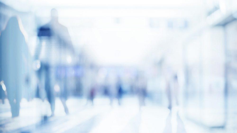 Abstrakte Fotografie von Fußgängern mit starker Unschärfe