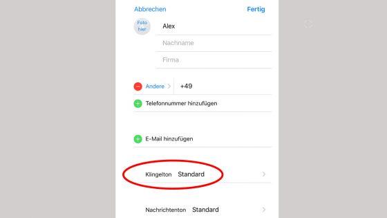 Klingeltöne zuweisen: iPhone