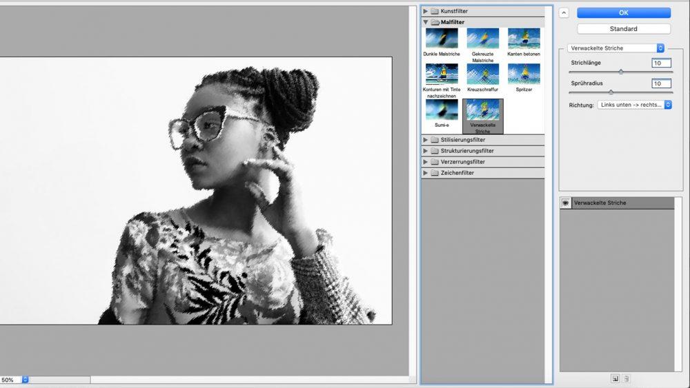 Bild mit Filtern bei Photoshop stilisieren