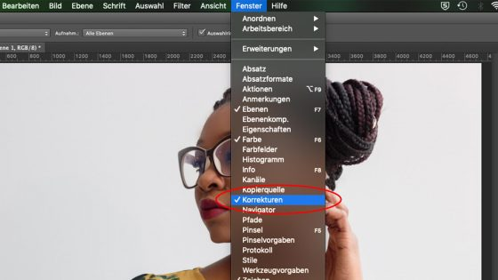 Photoshop: Aquarell-Effekt Korrekturen