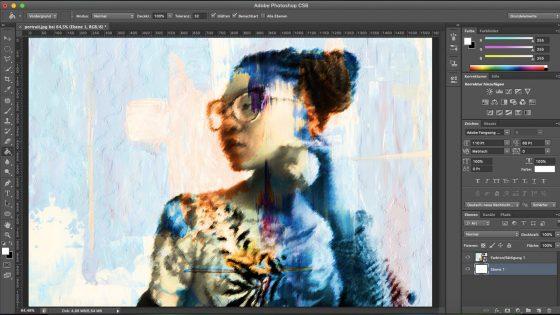 Photoshop Aquarell-Effekt: Neue Ebene erstellen