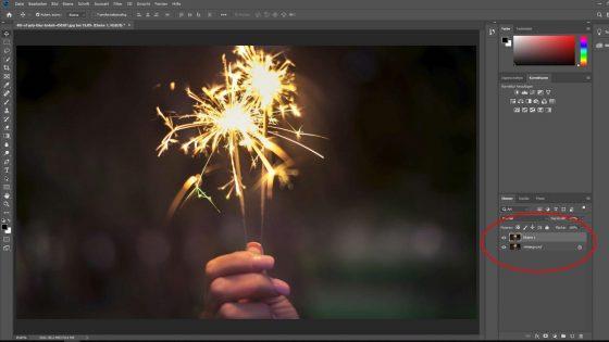 Photoshop Bild schärfen: Neue Ebene erstellen