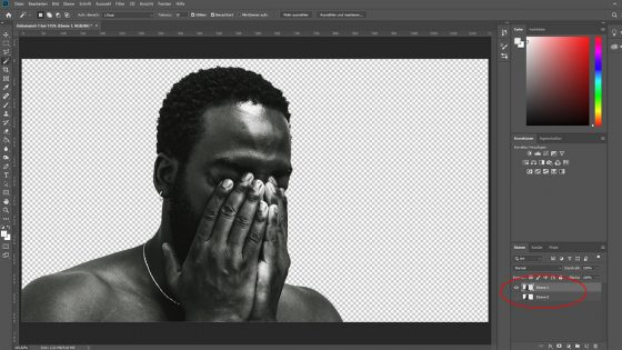 Photoshop Duotone-Effekt: Hauptmotiv freistellen