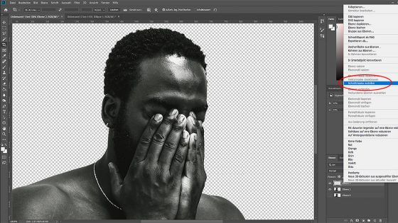 Photoshop Duotone-Effekt: Schnittmaske