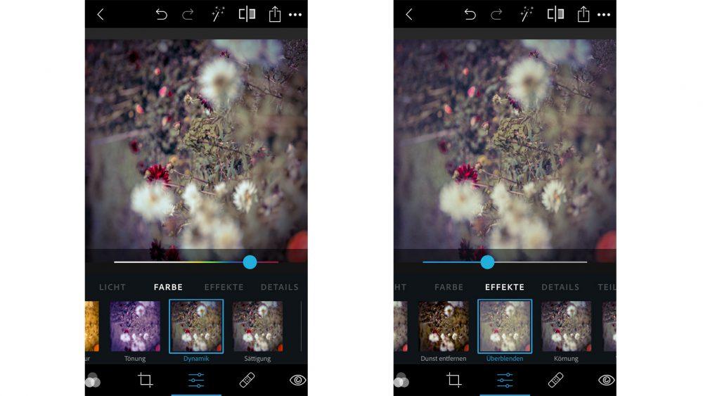Photoshop Express: Effekte anwenden