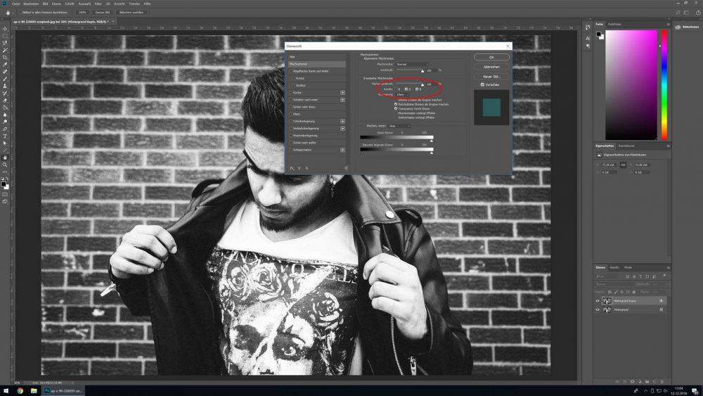 Kanäle in Photoshop auswählen, um Glitch-Effekt zu erzeugen