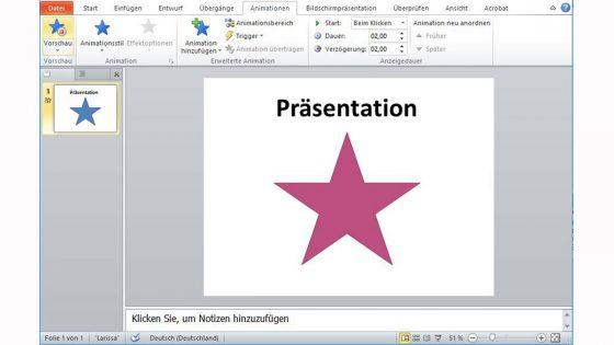 PowerPoint-Animation erstellen: Farbe des Objekts ändern
