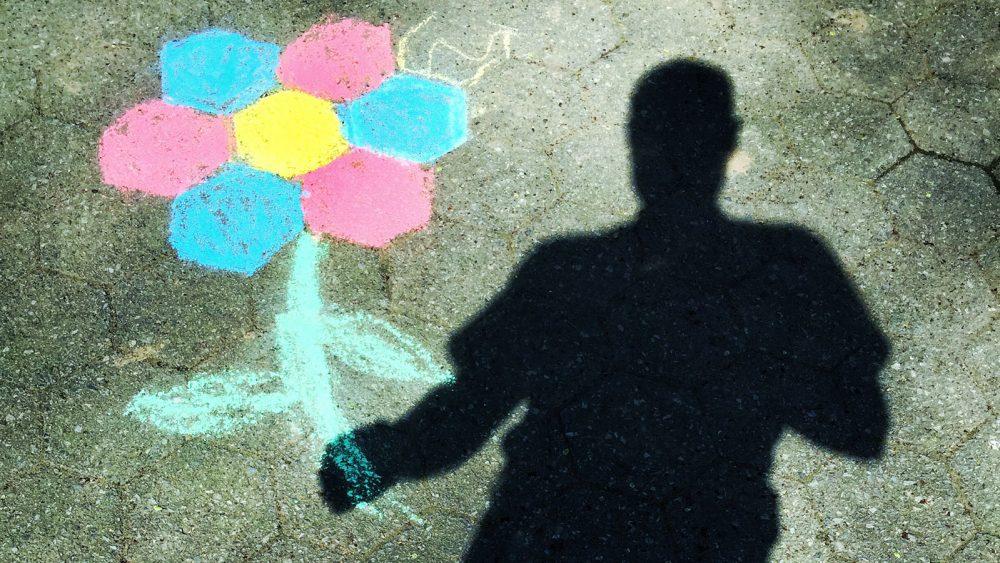 Selbstporträt als Schatten fotografieren