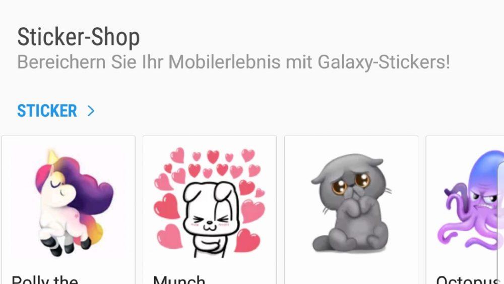 Sticker im App Store Galaxy Apps
