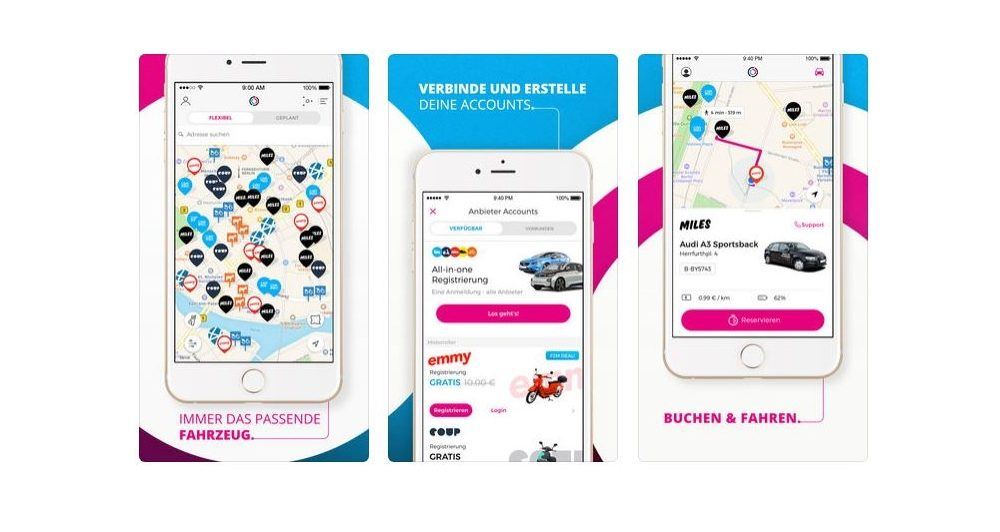 Carsharing App Free2Move