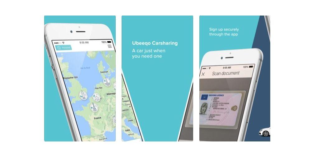 Carsharing App Ubeeqo