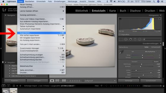 Focus Stacking: Lightroom - exportieren