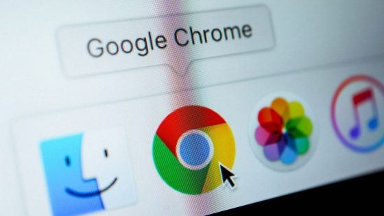 Google Chrome Browser Symbol auf iOS-Gerät