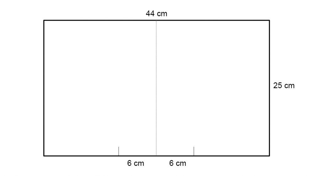 Schaubild von Kartonzuschnitt für das Bauen einer Softbox