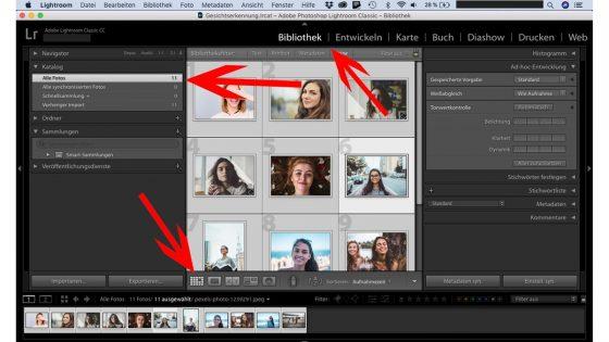Lightroom Gesichtserkennung: Gesichtsdatensätze aktualisieren