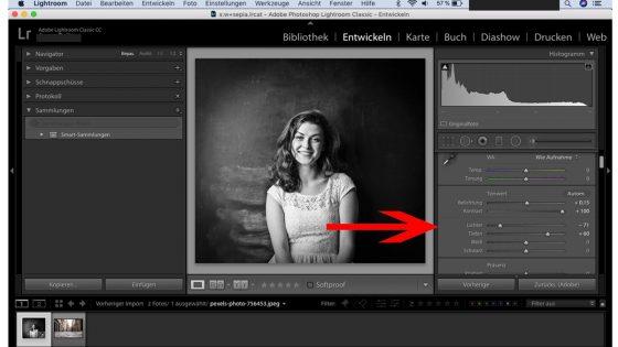 Lightroom Schwarz-Weiß: Tiefen und Lichter