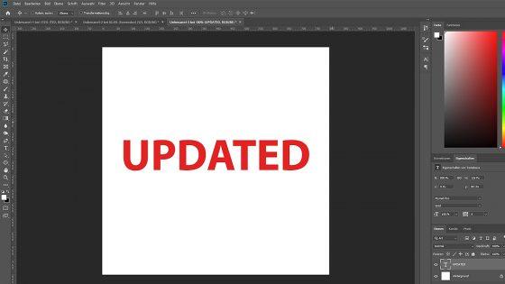Logo erstellen mit Photoshop: Text einfügen