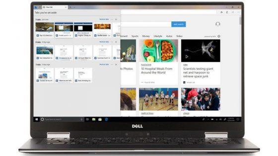 Laptop mit offenem Edge-Browser auf dem Display