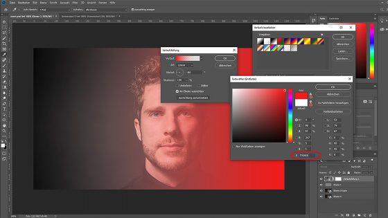 Photoshop Neonfarben: Farbverlauf