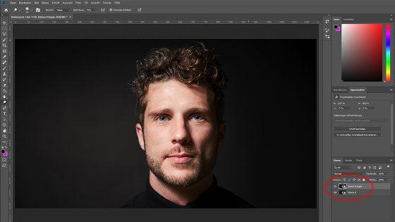 Photoshop Neonfarben: Neue Ebene erstellen