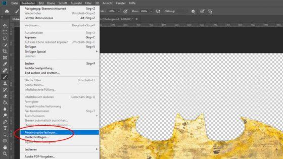 Photoshop Pinsel erstellen: Pinselvorgabe