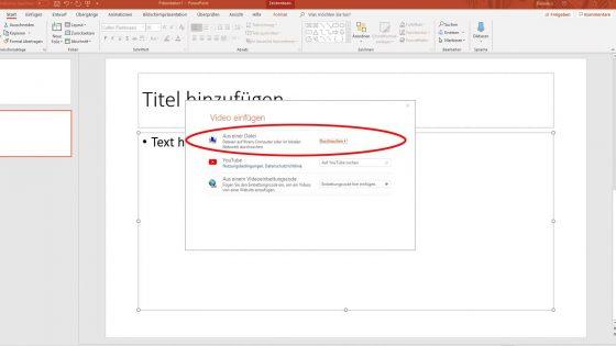 Video in PowerPoint einfügen vom PC