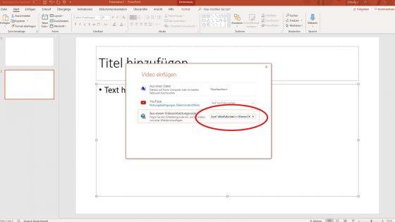 Online-Video in PowerPoint einfügen mit Einbettungscode