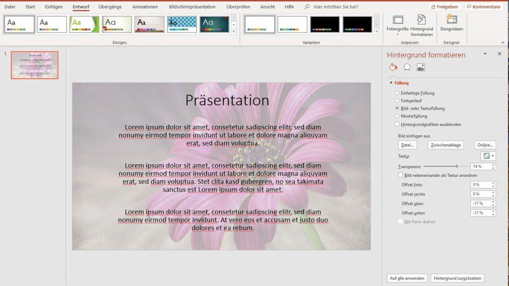 PowerPoint Wasserzeichen Bild einfügen