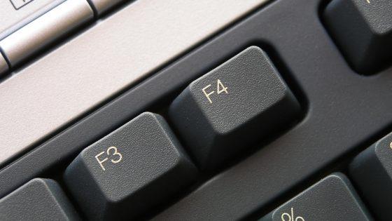 F-Tasten auf der Tastatur Großaufnahme
