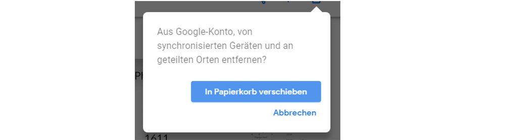 Google-Fotos-Fenster In Papierkorb verschieben