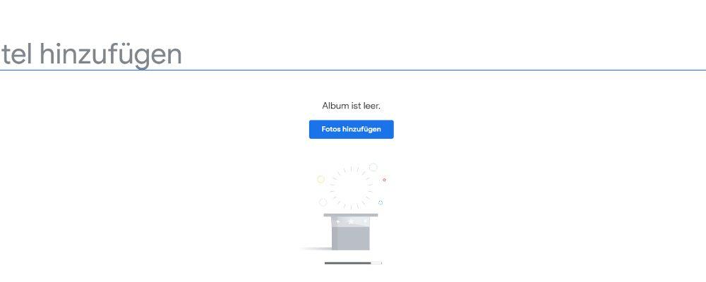 Google-Fotos-Fenster Album erstellen