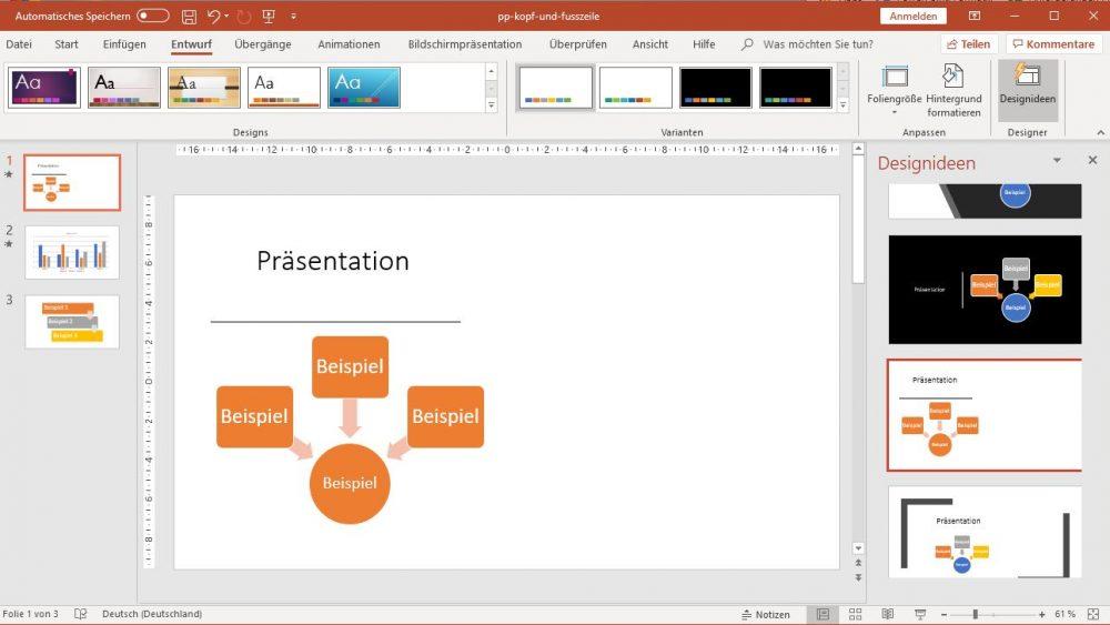 PowerPoint: Designidee verschiebt Inhalte an linken Rand