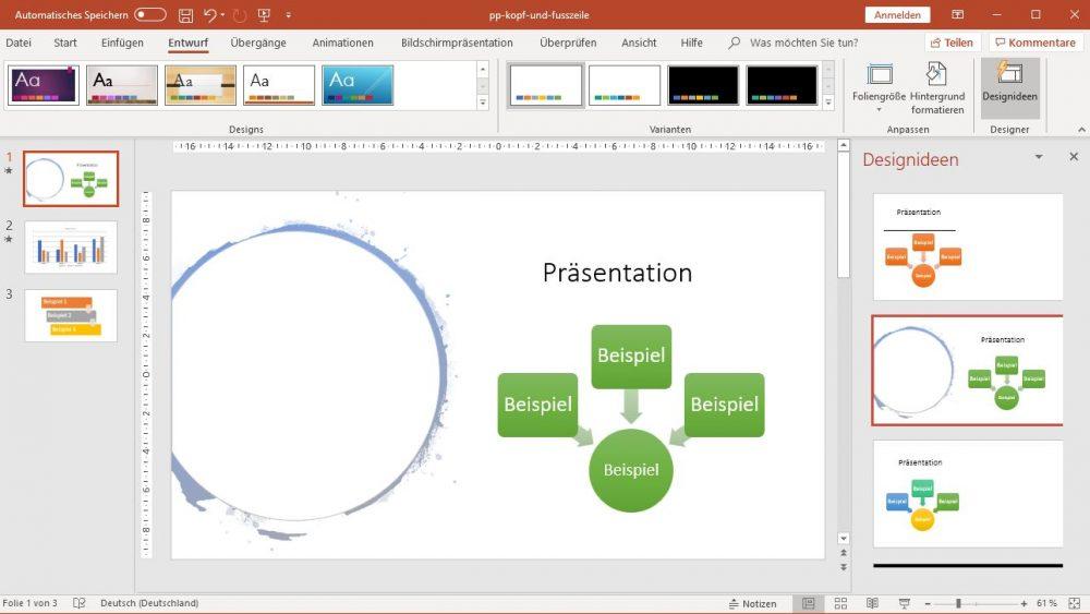 PowerPoint: Designidee mit Kreis und Farbänderung
