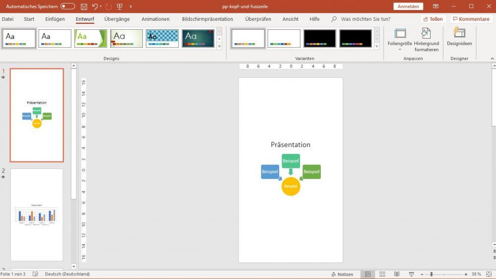 PowerPoint: Folien im Hochformat