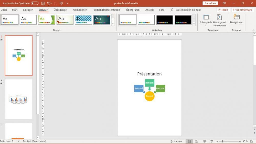 PowerPoint: Folien im individuellen Hochformat