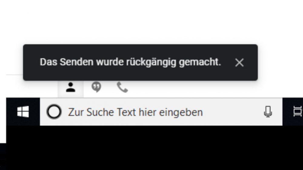 Gmail E-Mail-Versand rückgängig machen Screenshot