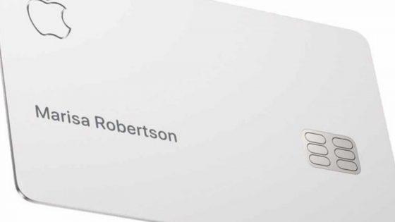 Apple Card Vorderseite