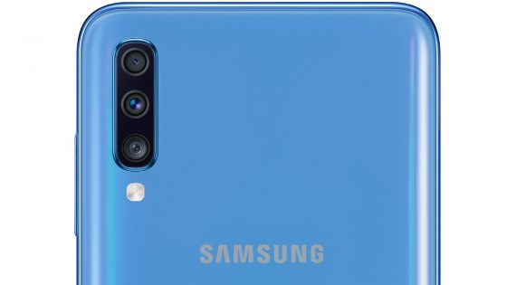 Rückseite Detail Kameras Samsung Galaxy A70