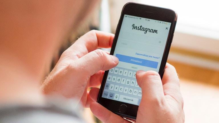Instagram auf einem Smartphone-Bildschirm