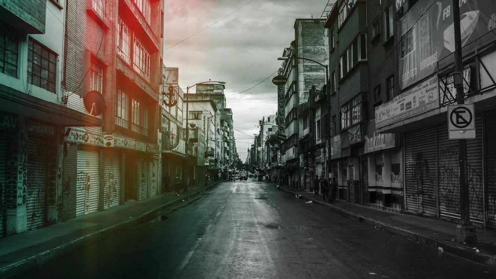 Photoshop Preset Light Leak mit rotem Farbverlauf
