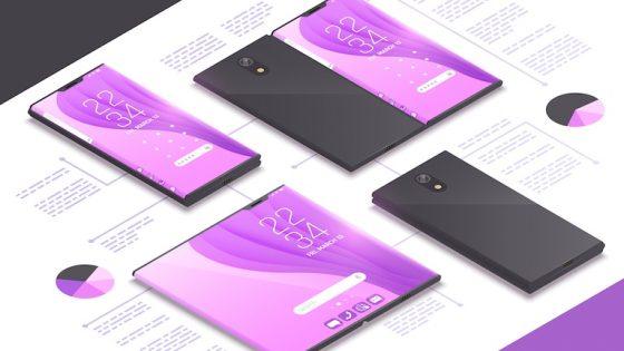 Renderbild Samsung Galaxy Fold 2