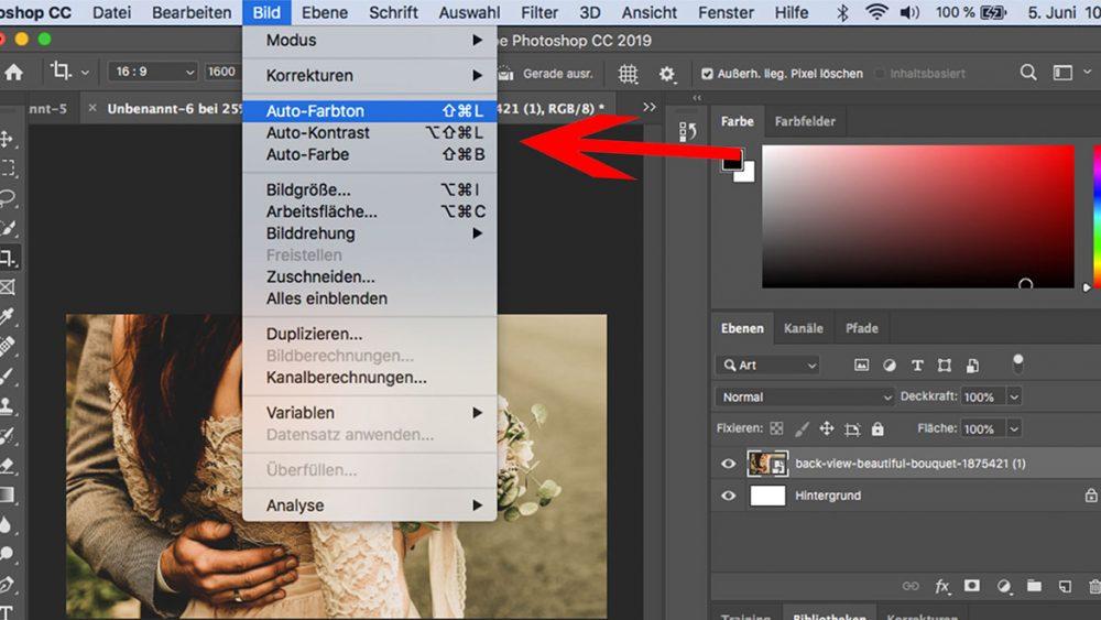 Photoshop: Weißabgleich mit Autokorrektur