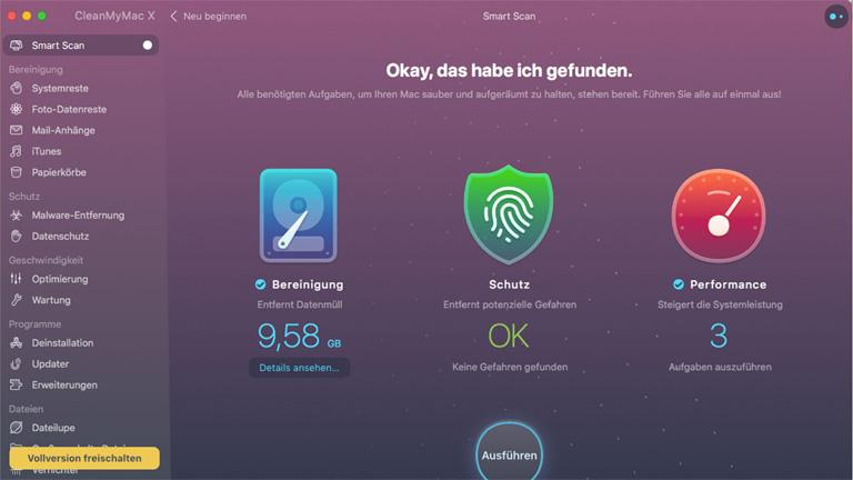 Cleaner Apps für Mac - Clean my Mac X