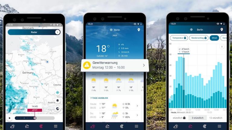 Screenshot RegenRadar-App WeatherPro